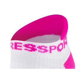 Compressport Racing V2 Run Low Socks White/Pink